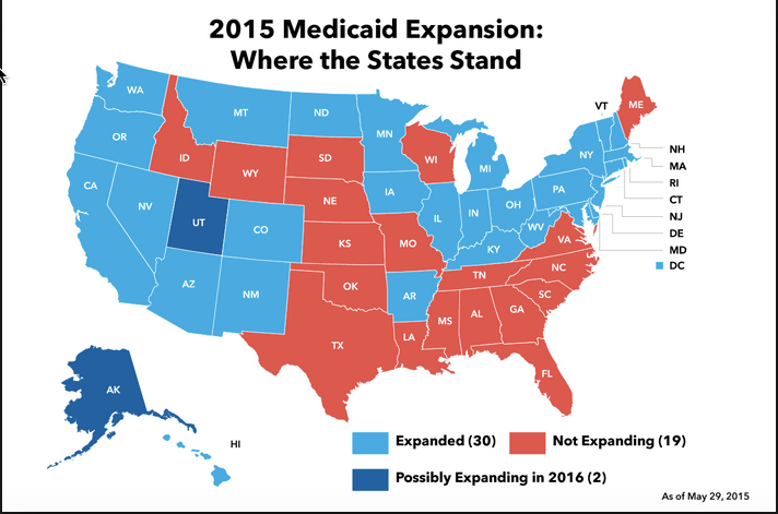 Medicaid Expansion States Map 2017.2017 05 01 14 40 03 Medicaid Expansion Rooster Today