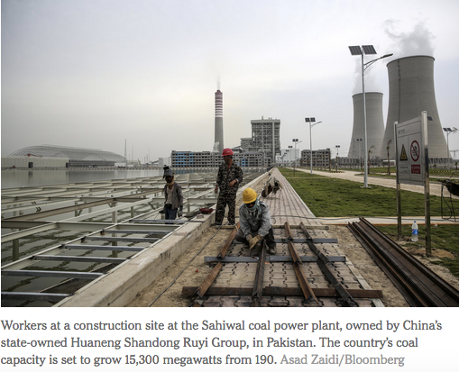 As Beijing Joins Climate Fight, Chinese Companies Build Coal